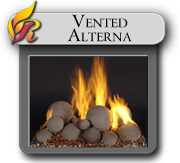 Alterna vented gas logs