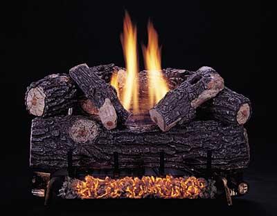Rasmussen C8 Double Burner with Oak Logs